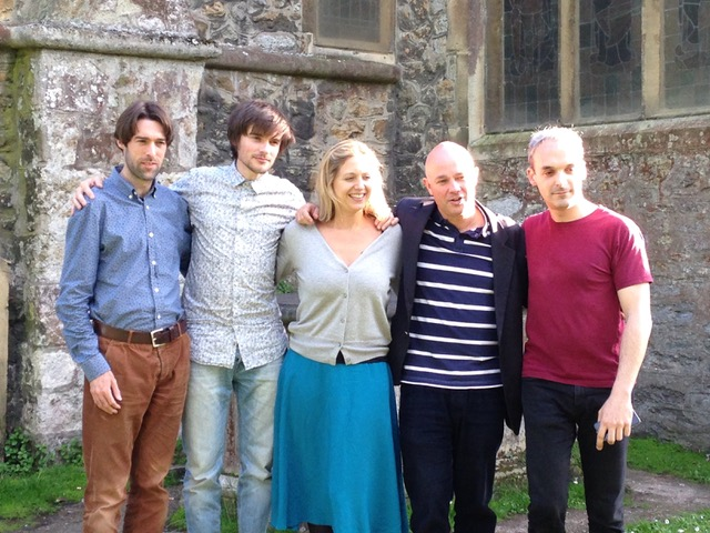 2015 - Matt Shipton sent in this photo of the Quartet with their guest pianist Charles Owen and of course cellist Pierre Doumenge who stood in for Cara while she was on maternity leave.