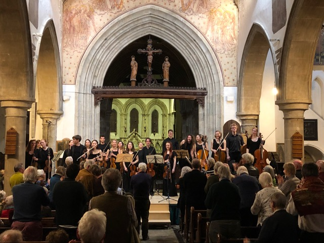 2019 - Trustee Matt Shipton sent in this photo of a standing ovation for our Saturday night concert with the RCM chamber Orchestra!